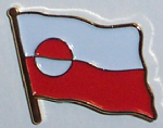 Greenland Country Flag Enamel Pin Badge